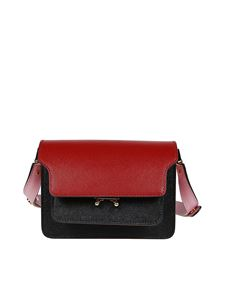 Marni - Trunk bag in black, red and pink