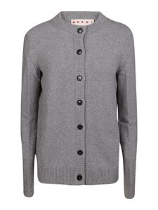Marni - Extra long sleeve cashmere cardigan in grey
