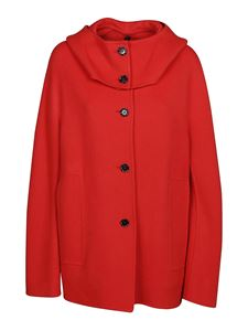 Marni - Cashmere oversized coat in red