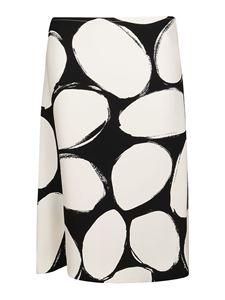 Marni - Pebbles print A-line skirt in white