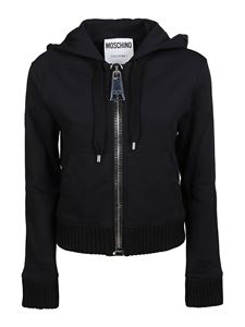 Moschino - Maxi puller hoodie in black