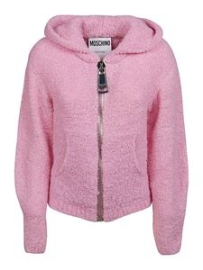 Moschino - Alpaca blend hooded cardigan in pink