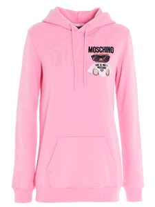 Moschino - Micro Teddy Bear hoodie in pink