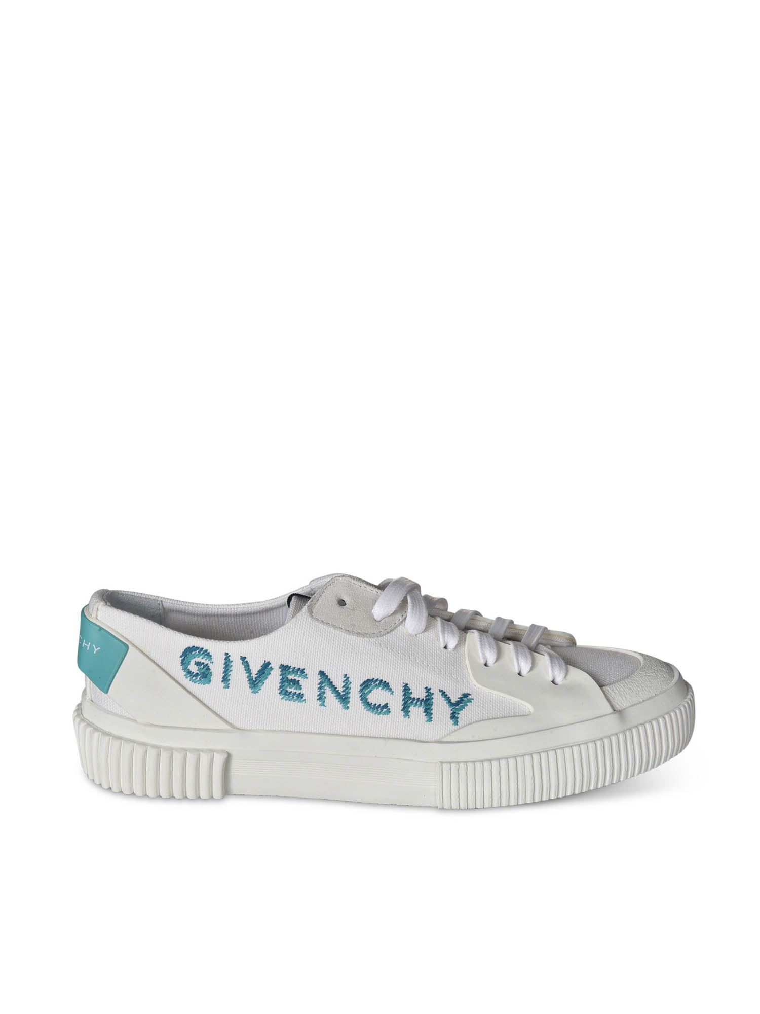 Givenchy Leathers SNEAKERS IN WHITE FEATURING CONTRASTING LOGO