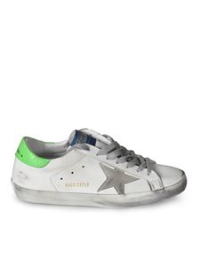 Golden Goose - Superstar sneakers with fluo green heel tab