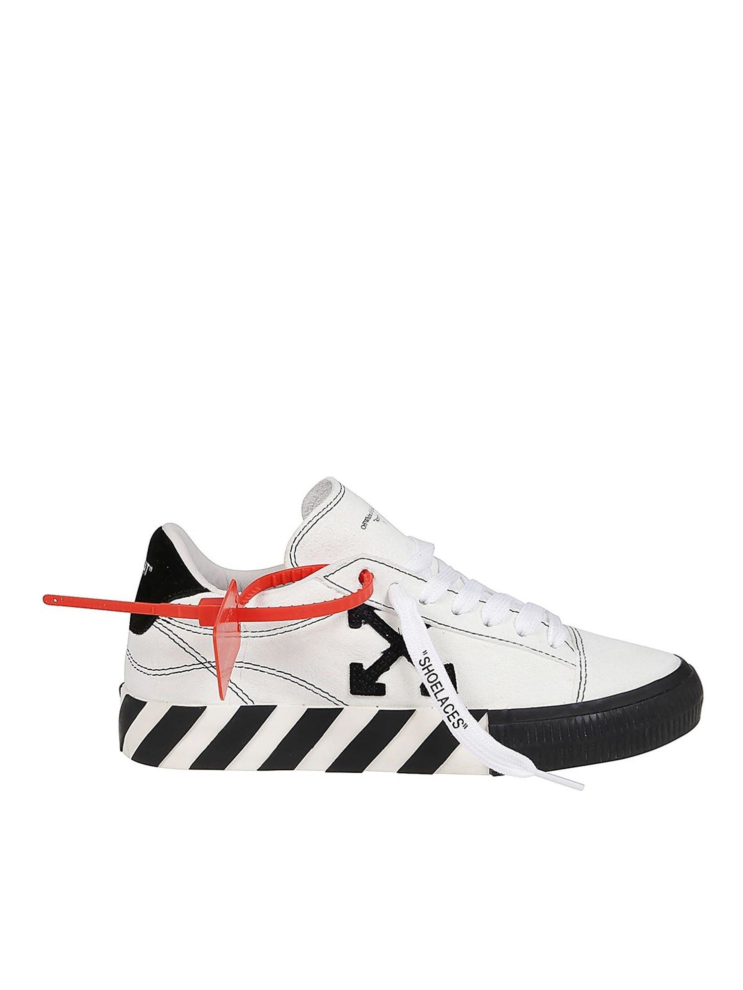 Off-White Suedes NEW ARROW LOW VULCANIZED SNEAKERS IN WHITE