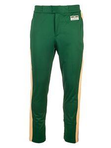 Gucci - Technical jersey joggers in green
