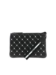 Gaelle Paris - All-over front logo pochette in black