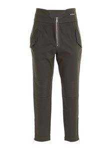 Gaelle Paris - Logo relaxed fit pants in green
