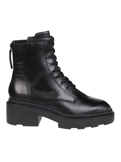 Ash - Moody 01 lace-up booties in black
