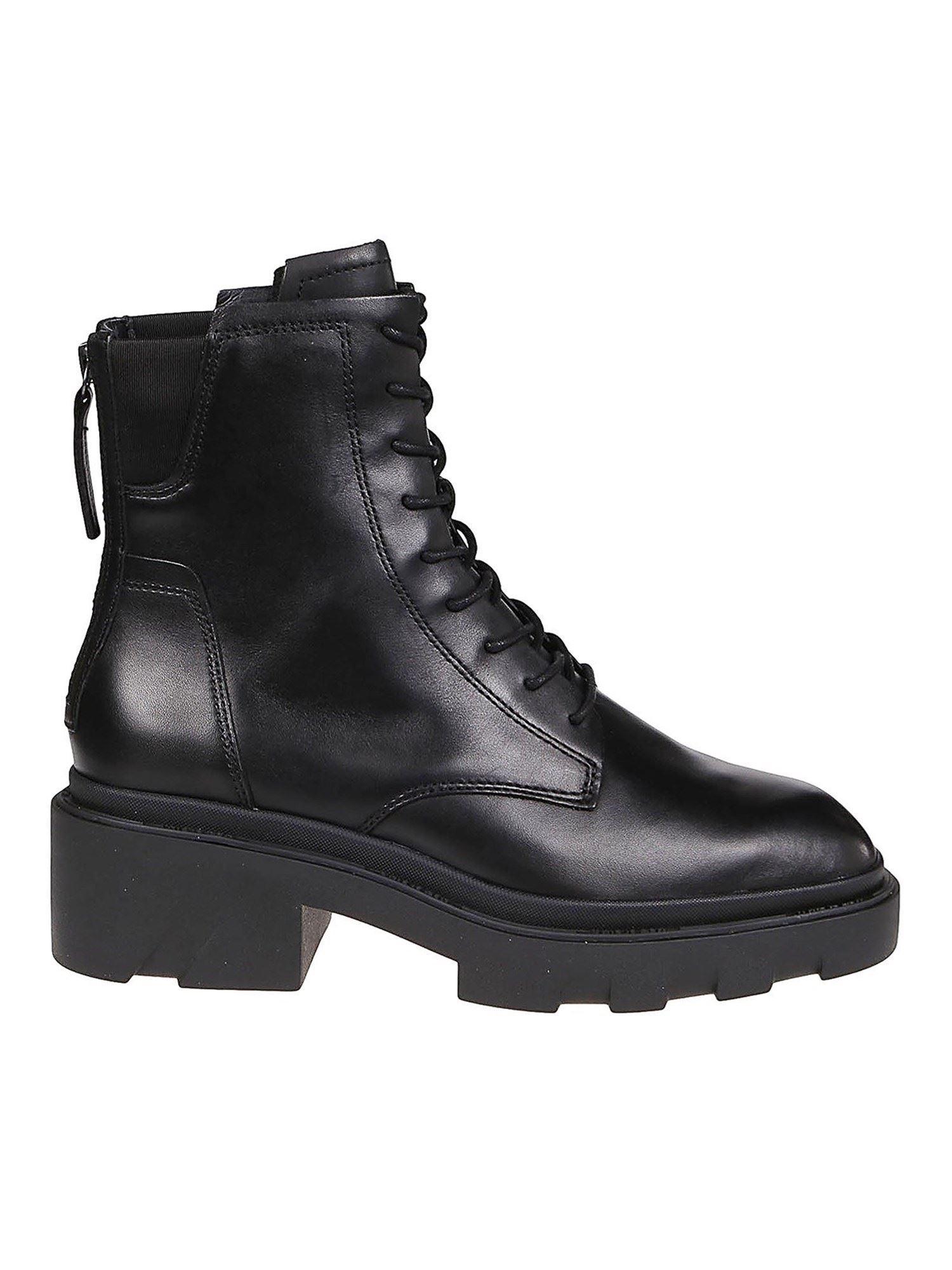 Ash MOODY 01 LACE-UP BOOTIES IN BLACK
