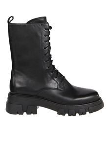Ash - Liam 01 lace-up booties in black