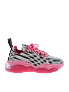 Moschino - Bubble Teddy sneakers in fuchsia and black