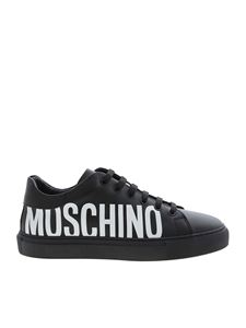 Moschino - Maxi logo print sneakers in black