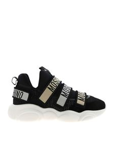Moschino - Branded straps sneakers in black
