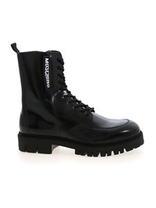 Moschino - Moschino Label ankle boots in black