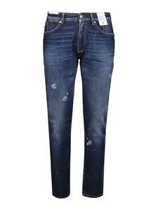 PT05 - Jeans slavato in denim stretch blu