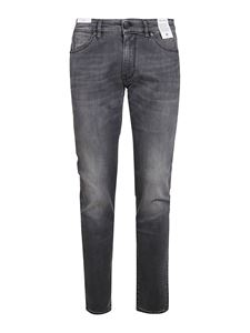 PT05 - Distressed effect denim jeans in grey