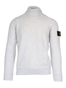 Stone Island - Warm cotton turtleneck in grey
