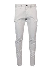 Stone Island - Garment dyed cargo trousers in grey