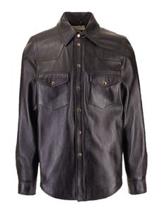 Gucci - Gucci leather shirt in black