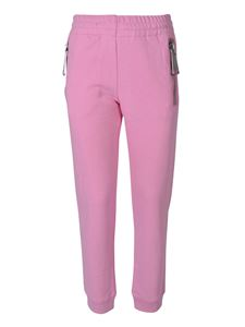 Moschino - Macro zip fleece pants in pink