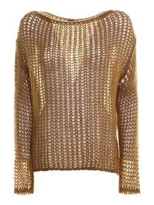 Peserico - Wool blend crewneck sweater in camel colour