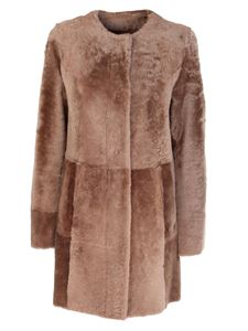 DROMe - Cappotto in shearling marrone
