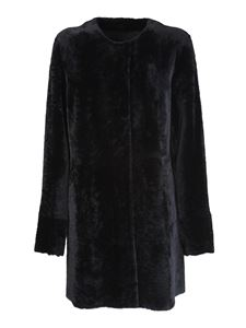 DROMe - Cappotto in shearling nero
