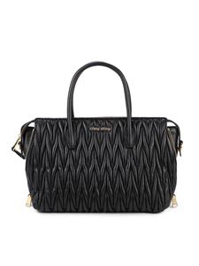 Miu Miu - Quilted napa top-handle bag in black