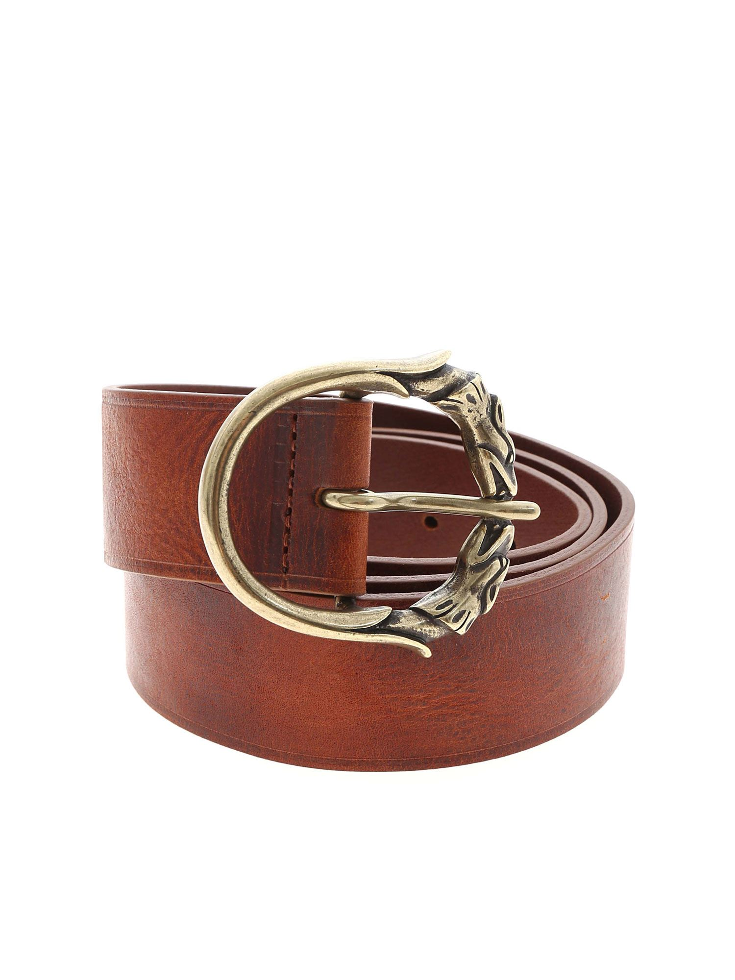 Dondup LEATHER BELT IN BROWN