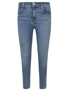 J Brand - Alana high rise cropped skinny jeans in blue