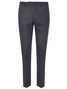 Incotex - Dark gray suit pants with crease