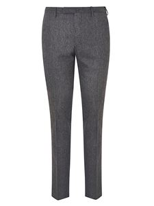 Incotex - Gray suit pants with crease