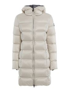 Colmar Originals - Quilted nylon coat in cream colour