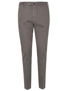 Incotex - Micro-patterned pants in dove grey