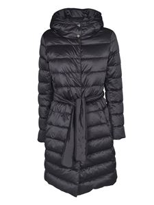 Herno - Belt long down jacket in black