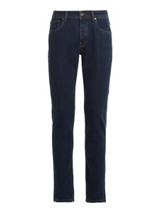 Drumohr - Jeans in denim stretch blu