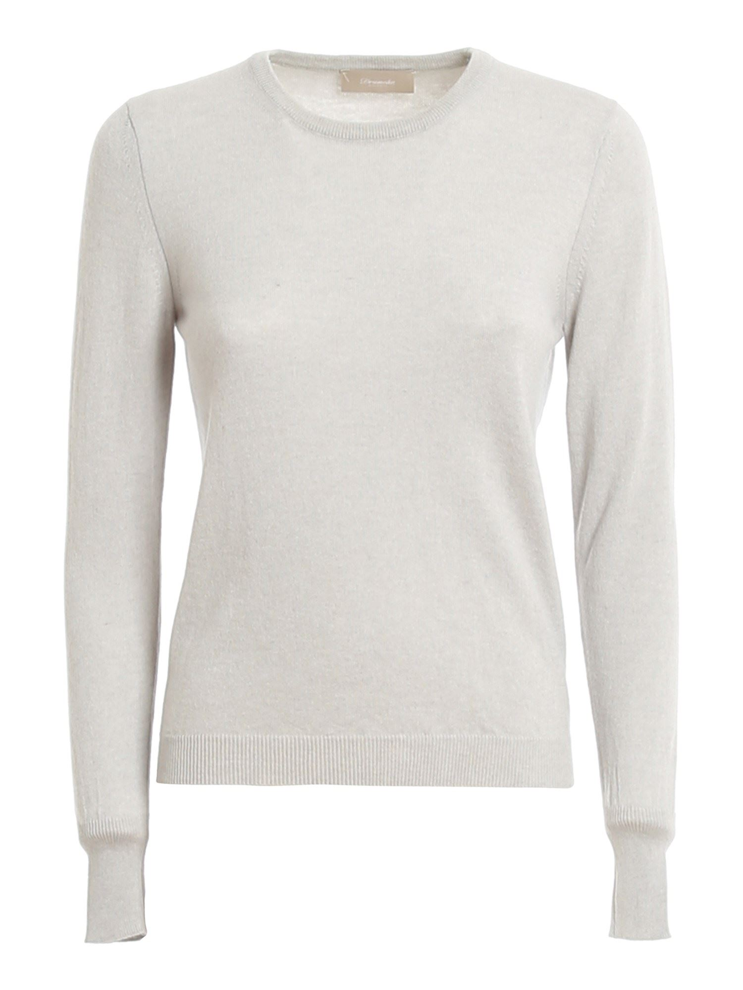 Drumohr CASHMERE CREWNECK JUMPER IN GREY