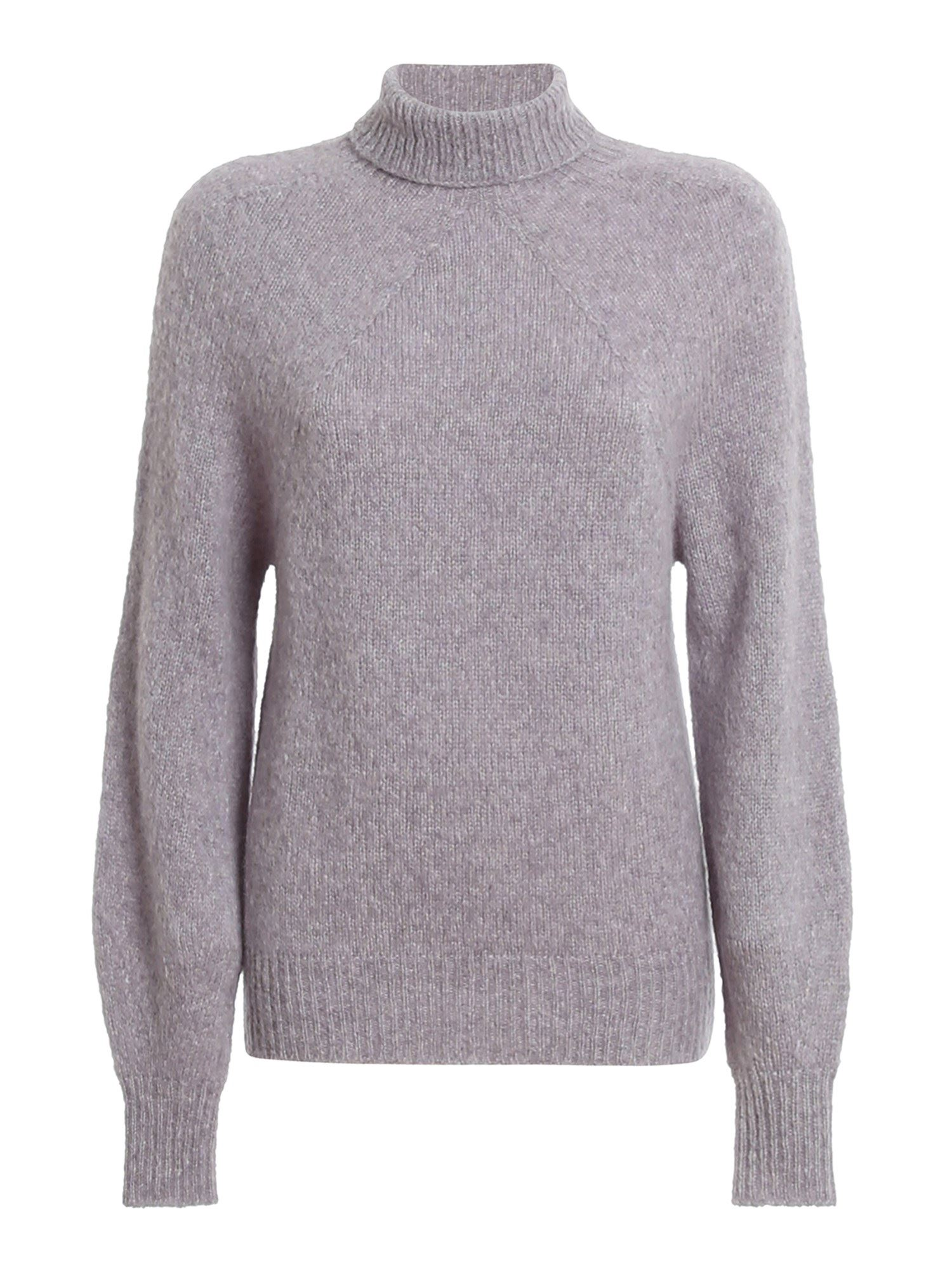 Drumohr WOOL BLEND TURTLENECK SWEATER IN PURPLE