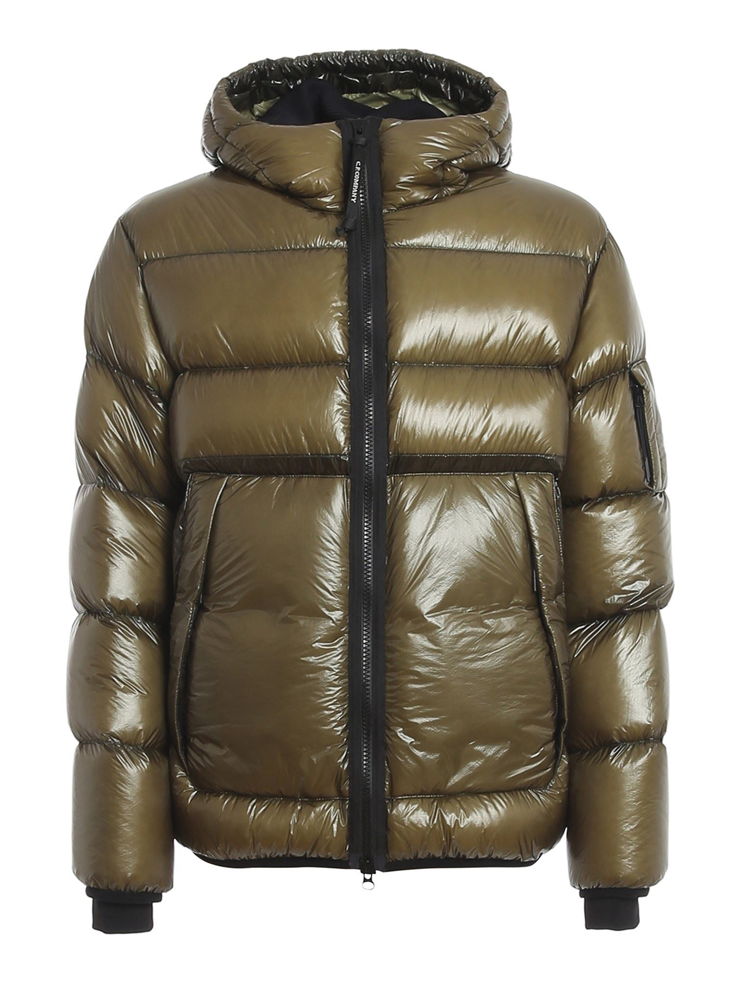 C.p. Company Downs DD SHELL PADDED JACKET IN GREEN