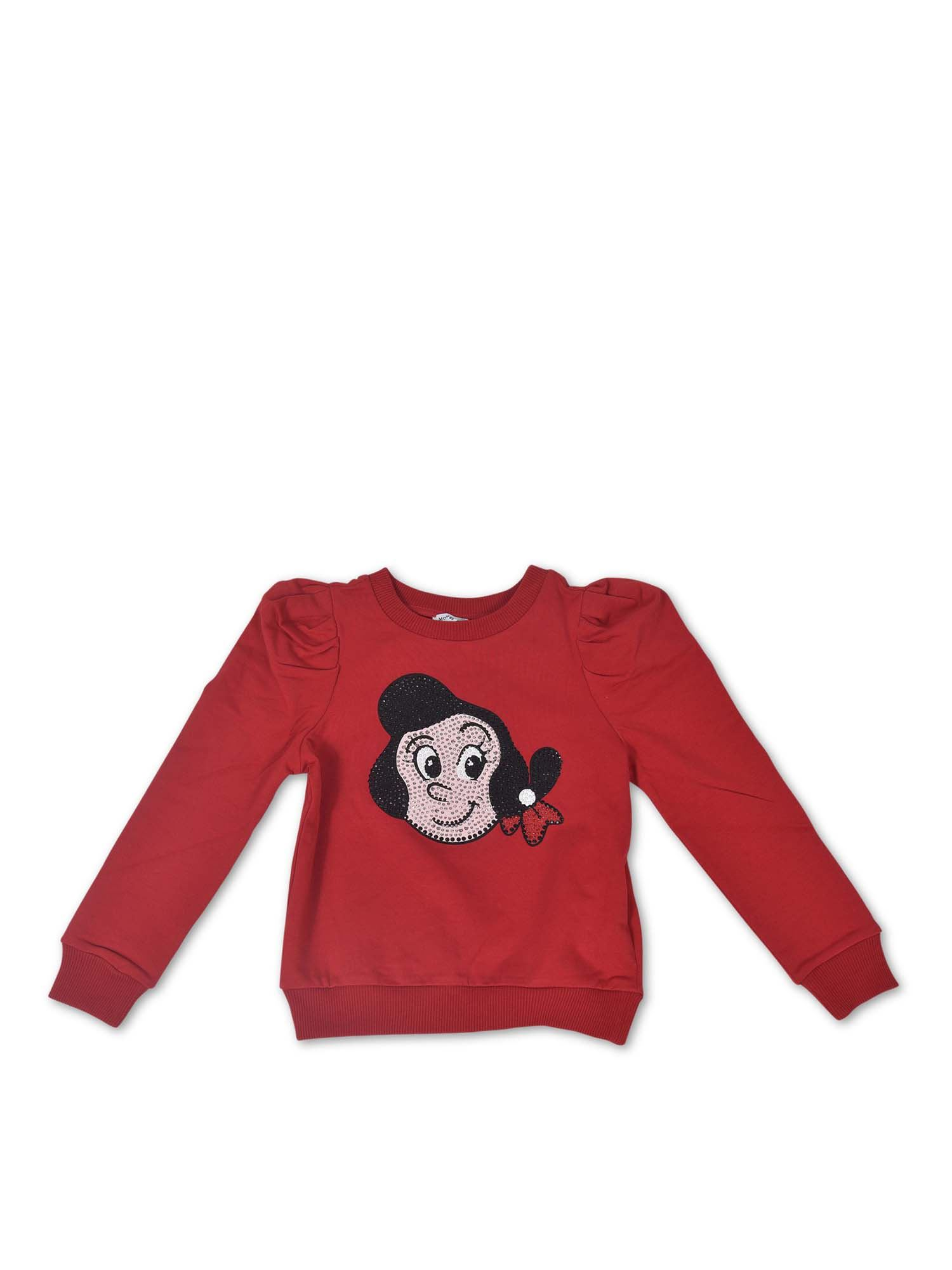 Monnalisa OLIVIA SWEATSHIRT IN RED