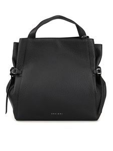 Orciani - Fan large black tote