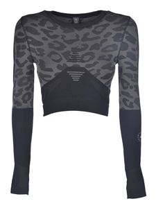 Adidas by Stella McCartney - Truepurpose Seamless Crop top in black and grey