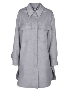 Stella McCartney - Kerry coat in melange light grey