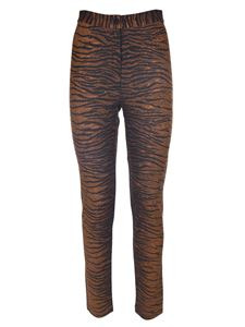 Kenzo - Leggings animalier marroni