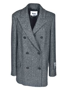 MSGM - Double-breasted jacket in black and grey