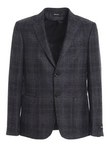 Z Zegna - Wool blend single breasted blazer multicolor