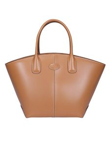 Tod's - Leather trapezoidal bag in brown