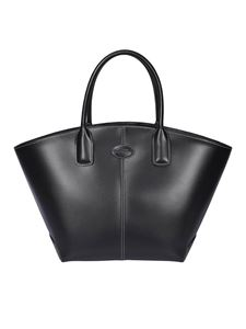 Tod's - Leather trapezoidal bag in black